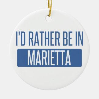 I'd rather be in Marietta Ceramic Ornament