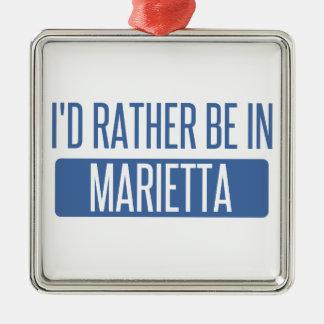 I'd rather be in Marietta Metal Ornament