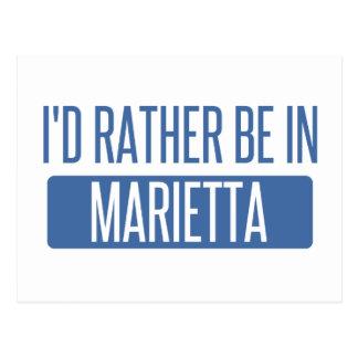 I'd rather be in Marietta Postcard