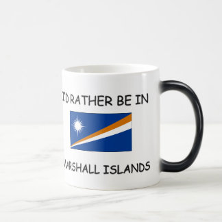 I'd rather be in Marshall Islands 11 Oz Magic Heat Color-Changing Coffee Mug