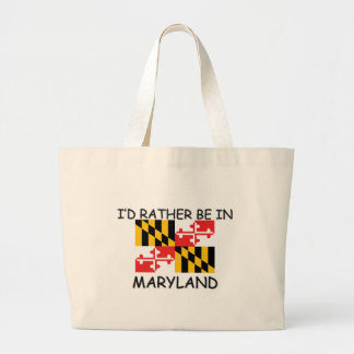 I'd rather be in Maryland Canvas Bags