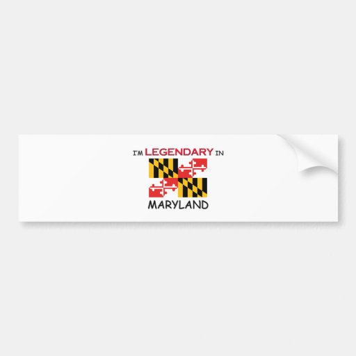 I'd Rather Be In MARYLAND Car Bumper Sticker
