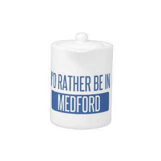 I'd rather be in Medford MA Teapot