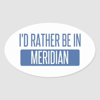 I'd rather be in Meridian ID Oval Sticker