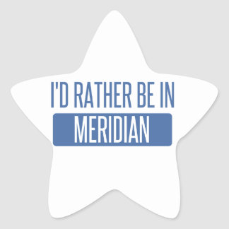 I'd rather be in Meridian ID Star Sticker