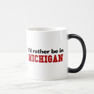 I'd Rather Be In Michigan Magic Mug