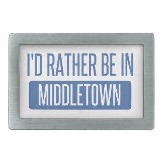 I'd rather be in Middletown CT Belt Buckle