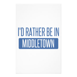 I'd rather be in Middletown CT Stationery