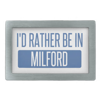 I'd rather be in Milford Rectangular Belt Buckle