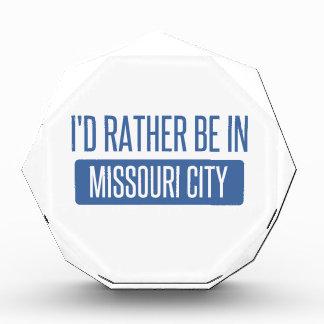 I'd rather be in Missouri City Acrylic Award