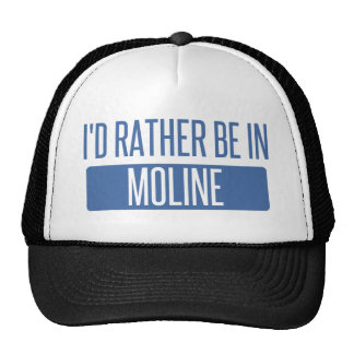 I'd rather be in Moline Trucker Hat