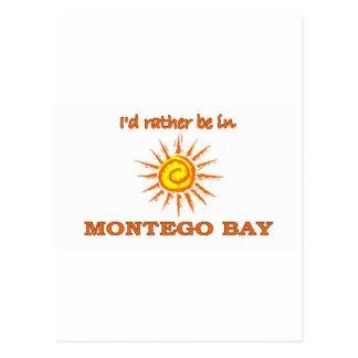 I'd Rather Be in Montego Bay Postcard
