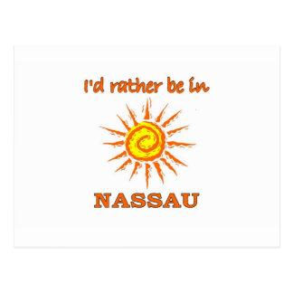 I'd Rather Be in Nassau Postcard