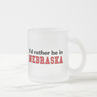 I'd Rather Be In Nebraska Frosted Glass Coffee Mug