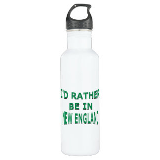 I'd Rather Be in New England Water Bottle