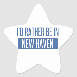 I'd rather be in New Haven Star Sticker