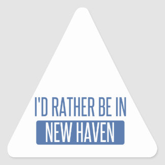 I'd rather be in New Haven Triangle Sticker