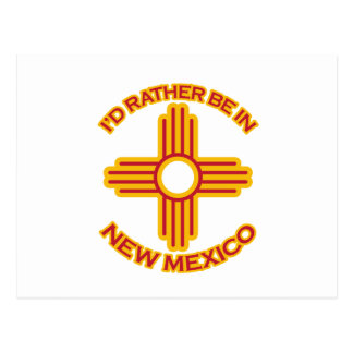 I'd Rather Be In New Mexico Postcard