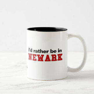 I'd Rather Be In Newark Two-Tone Coffee Mug