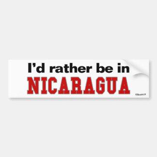 I'd Rather Be In Nicaragua Car Bumper Sticker