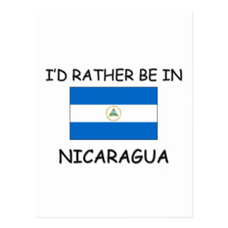 I'd rather be in Nicaragua Postcard