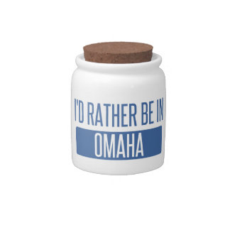I'd rather be in Omaha Candy Dish