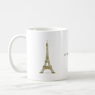 I'd Rather Be In Paris Eiffel Tower Landmark Coffee Mug