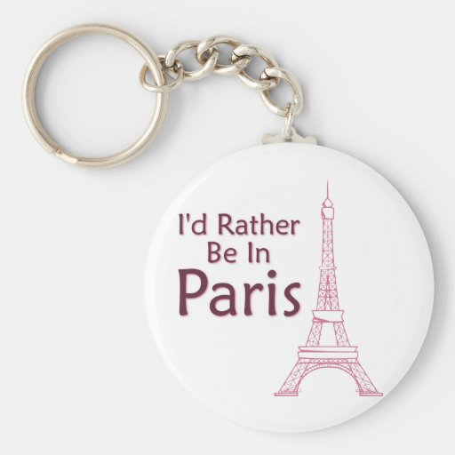 I'd Rather Be In Paris Key Chain