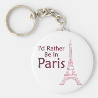 I'd Rather Be In Paris Keychain
