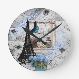 I'd Rather Be In Paris Wall Clock