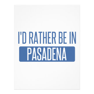 I'd rather be in Pasadena TX Letterhead