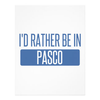 I'd rather be in Pasco Letterhead