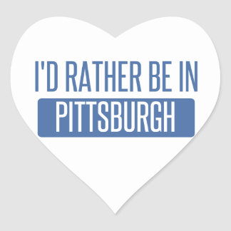 I'd rather be in Pittsburgh Heart Sticker
