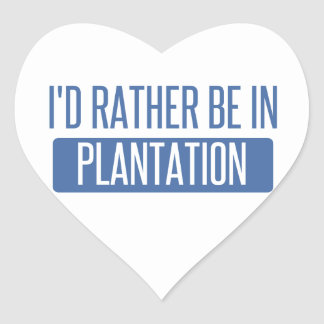 I'd rather be in Plantation Heart Sticker