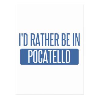 I'd rather be in Pocatello Postcard
