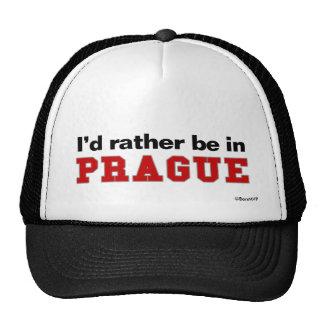 I'd Rather Be In Prague Trucker Hat