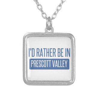 I'd rather be in Prescott Silver Plated Necklace