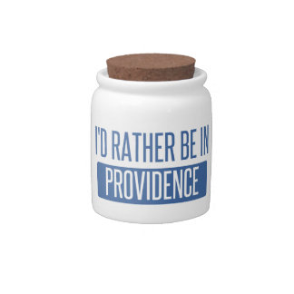 I'd rather be in Providence Candy Jar