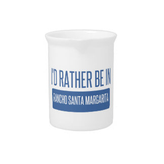 I'd rather be in Rancho Santa Margarita Drink Pitcher