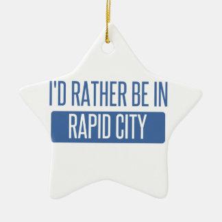 I'd rather be in Rapid City Ceramic Ornament