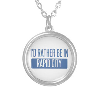 I'd rather be in Rapid City Silver Plated Necklace