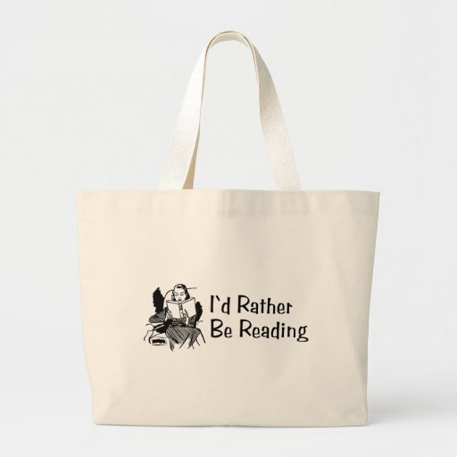 I'd Rather Be In Reading Canvas Bags