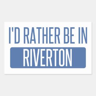 I'd rather be in Riviera Beach Rectangular Sticker