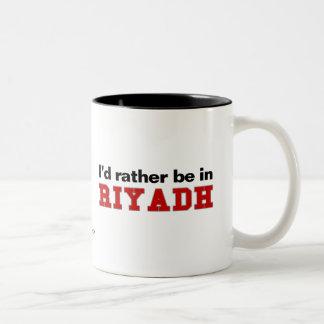 I'd Rather Be In Riyadh Two-Tone Coffee Mug