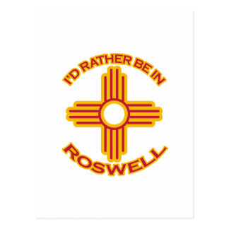 I'd Rather Be In Roswell Postcard