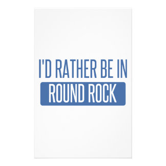 I'd rather be in Round Rock Stationery