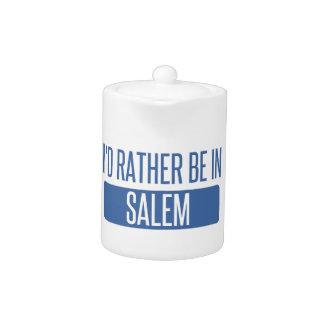 I'd rather be in Salem MA Teapot