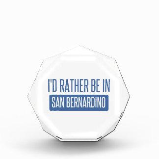 I'd rather be in San Bernardino Acrylic Award
