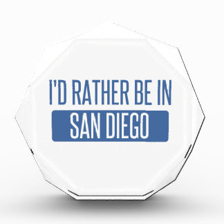 I'd rather be in San Diego Acrylic Award