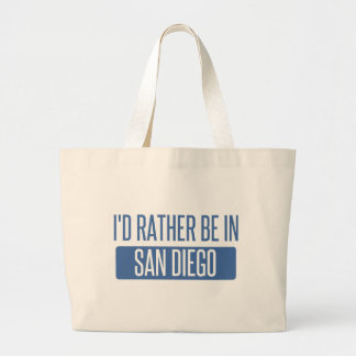 I'd rather be in San Diego Large Tote Bag
